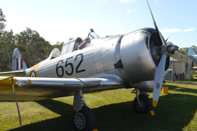 A preserved airworthy Wirraway photographed at Caloundra, QLD in 2014. Notice the serial number 652. Wirraway 653 is illustrated on the previous page.
