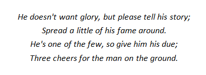 From E Sykes, 'Three cheers for the man on the ground', quoted in Mike Garbett and Brian Goulding, Lancaster at War 2, Shepperton, Surrey, 1979, p.23