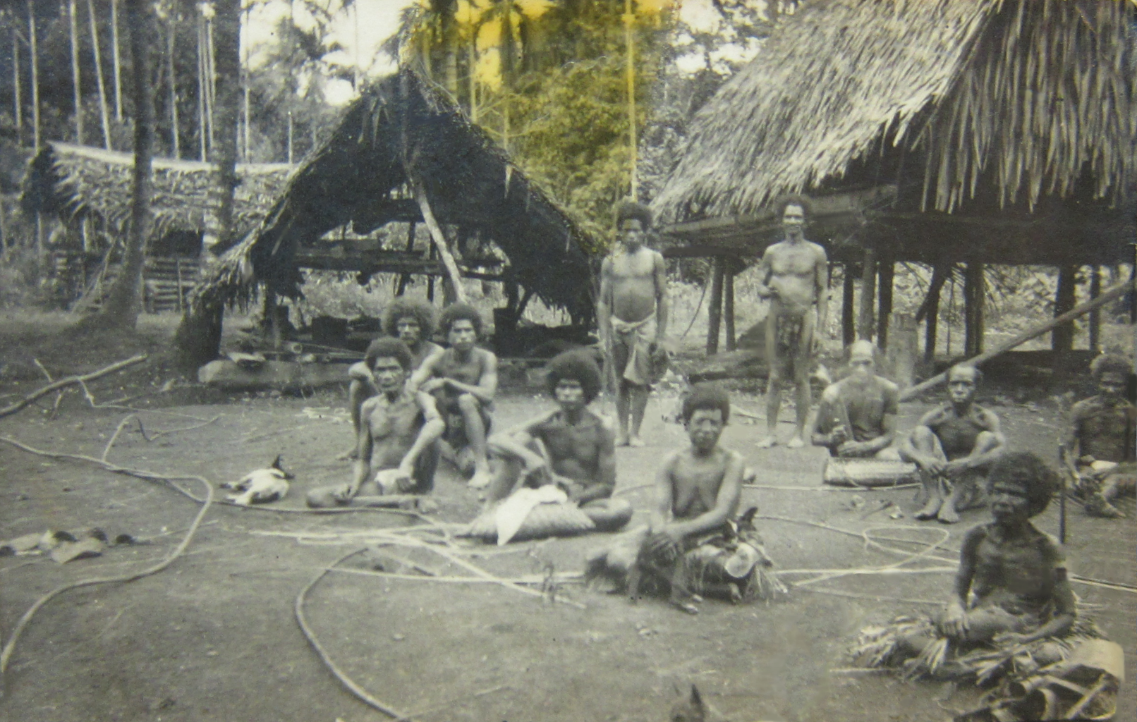 """""""In contrast with Goodenough Island, which was mountainous, Kiriwina was flat, with coral cliffs reaching nowhere higher than 100 feet. There were about 8,000 natives who lived on taro, bananas, paw paws, pineapples and other crops grown on the rich soil of the island, in addition to rations brought from the south.""""  (AWM Official History, July-Sept '43 'At Kiriwina', p69)"""