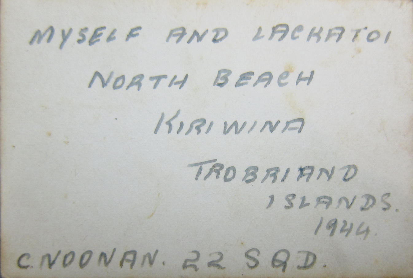 The handwritten text above was not written on the back of the photograph presented above it. After reviewing his photo's it appears Clem wrote the caption on the wrong print.