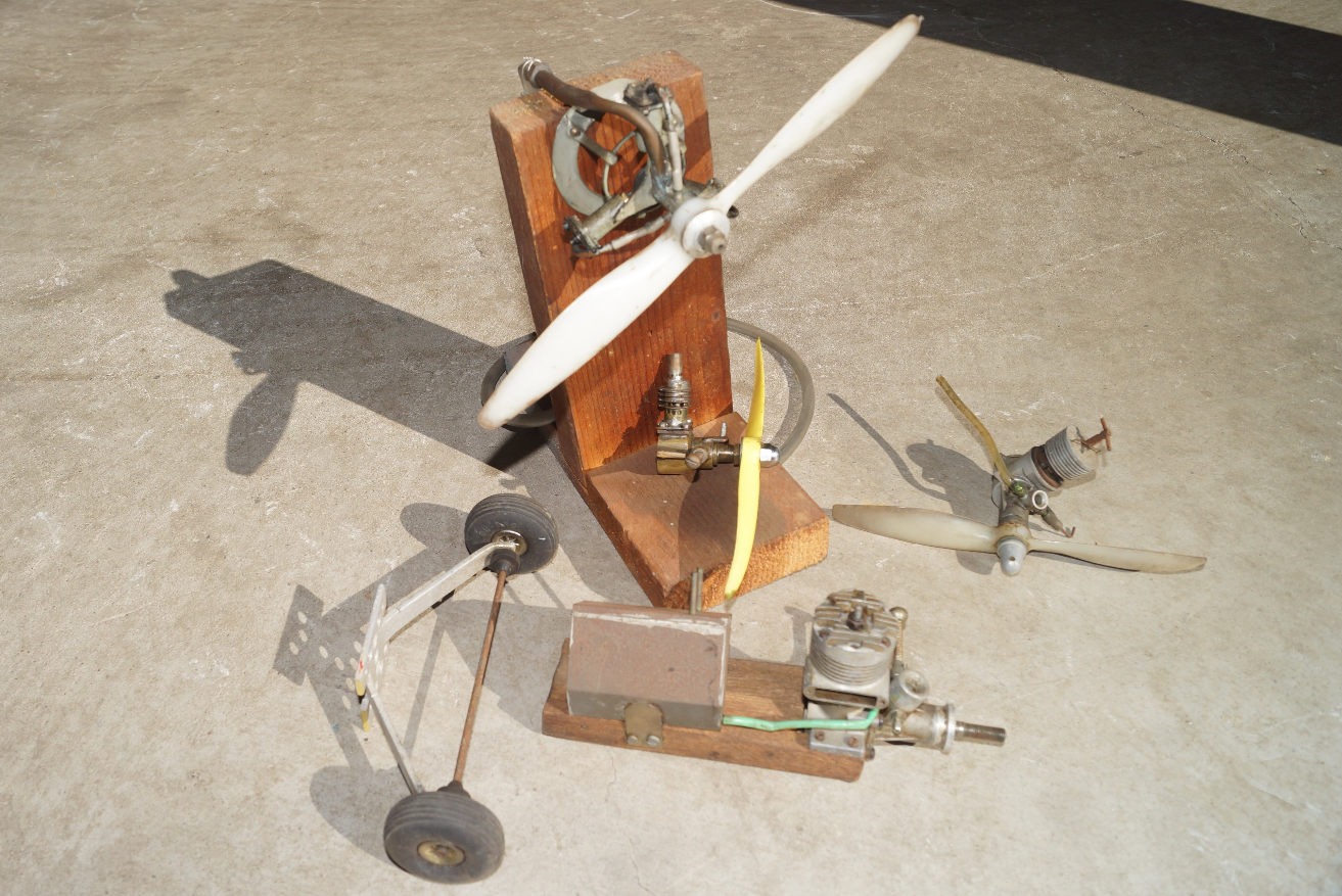 Some of Clem's model aircraft equipment.