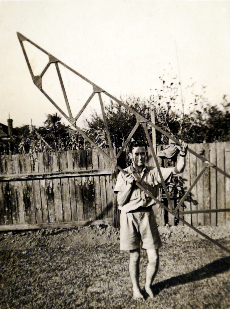 The glider built by Clem (Jack, and possibly Kevin Noonan) at the family home at Kings Road, New Lambton NSW.