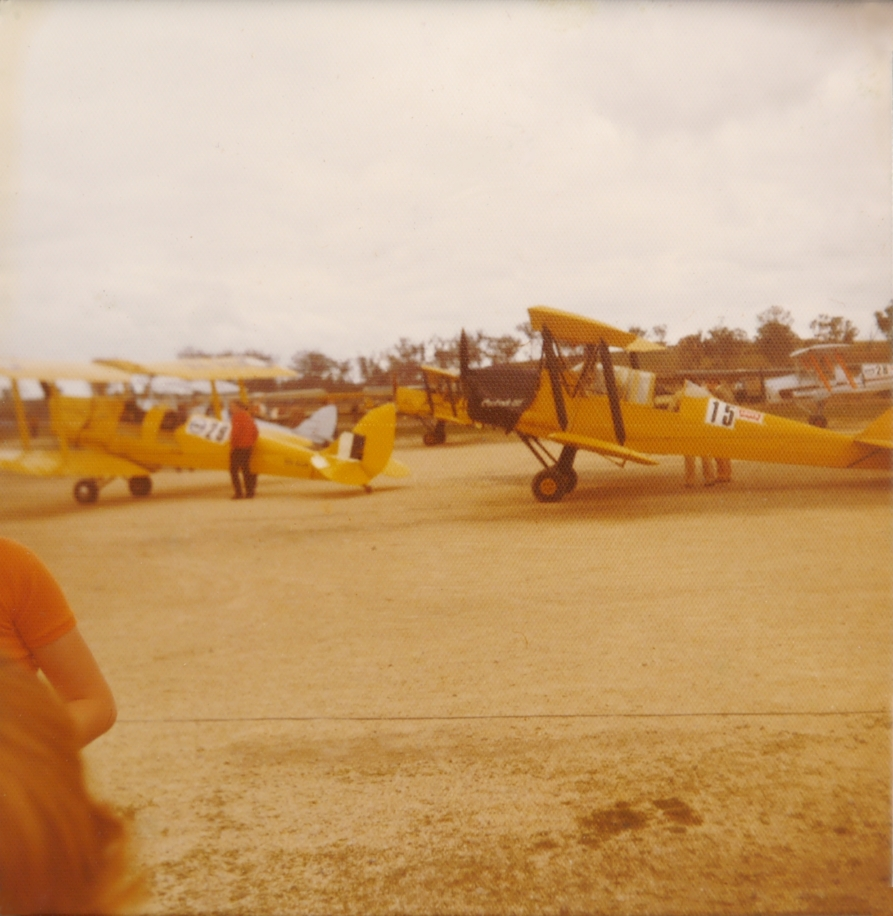 Tiger Moths at Rutherford, NSW (?), September 1977